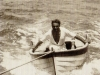 Arturo Osio nel mare di Calagrande nel 1930